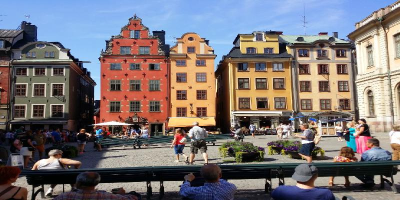 A Bright Day in Gamla Stan Stockholm