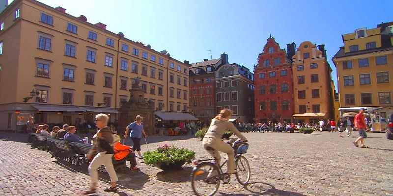 Stockholm Gamla Stan - Center of Old Town of the city