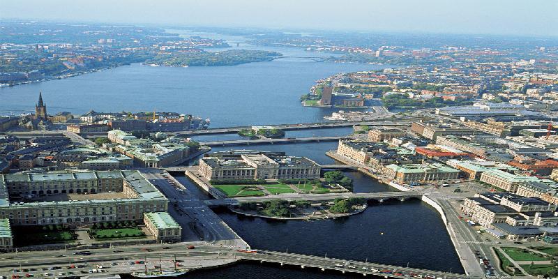 Stockholm bird view