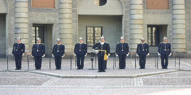 changing of the guard in stockhom
