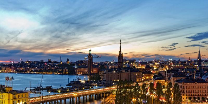 evening light in stockholm