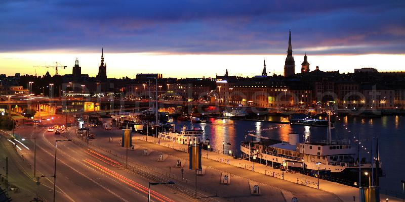 lapse net city view in stockholm