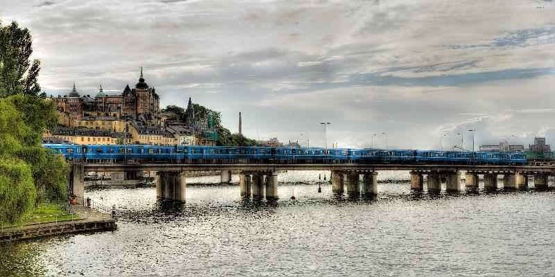 stockholm train view